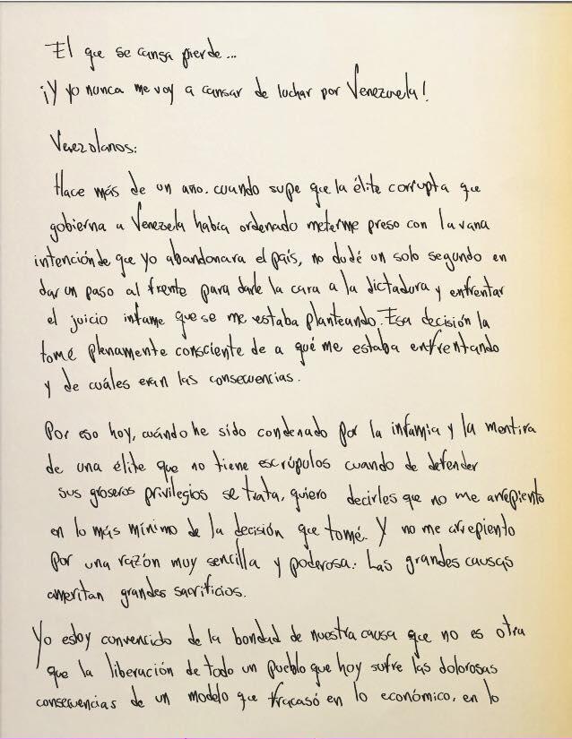 letra de la carta final: